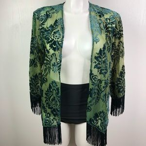 FOREVER 21 Velvet Burnout Kimono